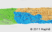 """Political Panoramic Map of the area around 20°2'43""""S,45°58'30""""E"""
