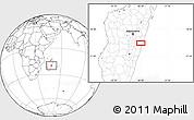 Blank Location Map of Mahanoro