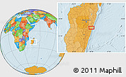 Political Location Map of Marolambo