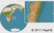 Satellite Location Map of Mahanoro