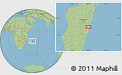 Savanna Style Location Map of Marolambo