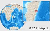 Shaded Relief Location Map of Marolambo