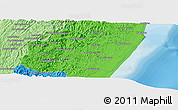 """Political Panoramic Map of the area around 20°2'43""""S,48°31'29""""E"""