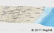 """Shaded Relief Panoramic Map of the area around 20°2'43""""S,48°31'29""""E"""