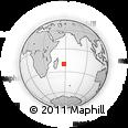 Outline Map of Morcellement Saint Andre, rectangular outline