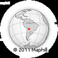 Outline Map of Camiri, rectangular outline