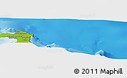 """Physical Panoramic Map of the area around 20°32'59""""S,167°31'30""""E"""
