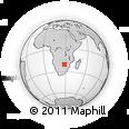 Outline Map of Plumtree, rectangular outline