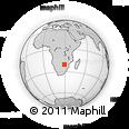 Outline Map of Filabusi, rectangular outline