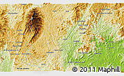 """Physical 3D Map of the area around 20°32'59""""S,41°34'30""""W"""