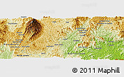 """Physical Panoramic Map of the area around 20°32'59""""S,41°34'30""""W"""