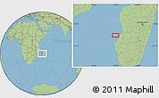 "Savanna Style Location Map of the area around 20°32'59""S,43°25'29""E"