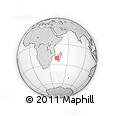 "Outline Map of the Area around 20° 32' 59"" S, 43° 25' 29"" E, rectangular outline"