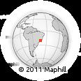 Outline Map of Ouro Preto, rectangular outline