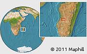 "Satellite Location Map of the area around 20°32'59""S,45°7'30""E"