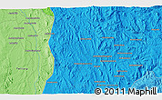 """Political 3D Map of the area around 20°32'59""""S,45°58'30""""E"""