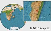 "Satellite Location Map of the area around 20°32'59""S,46°49'30""E"