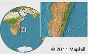 "Satellite Location Map of the area around 20°32'59""S,47°40'29""E"