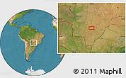 Satellite Location Map of Campo Grande