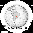 Outline Map of Campo Grande, rectangular outline