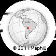 Outline Map of Huacareta, rectangular outline