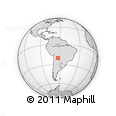 Outline Map of Cuevo, rectangular outline