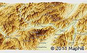 Physical 3D Map of Wān Ra-sa-hkanhkam