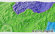 Political 3D Map of Wān Enta-ki-li