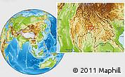 Physical Location Map of Wān Ra-sa-hkanhkam
