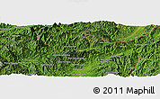 Satellite Panoramic Map of Wān Hpya-hkamhkün