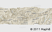 Shaded Relief Panoramic Map of Wān Hpya-hkamhkün