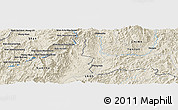 Shaded Relief Panoramic Map of Ban Lan Tene