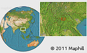 """Satellite Location Map of the area around 21°23'18""""N,102°4'29""""E"""