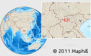 """Shaded Relief Location Map of the area around 21°23'18""""N,102°4'29""""E"""