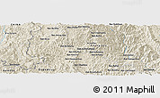 Shaded Relief Panoramic Map of Ban Bo Miang