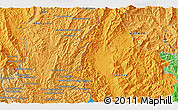 Political 3D Map of Ban Houayngeun