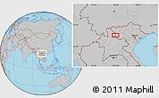 Gray Location Map of Ban Houayngeun