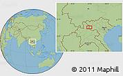 Savanna Style Location Map of Ban Houayngeun