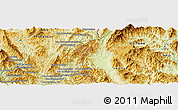 Physical Panoramic Map of Ban Houayngeun