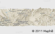Shaded Relief Panoramic Map of Ban Houayngeun