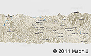 Shaded Relief Panoramic Map of Houei San