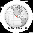 Outline Map of Santa María De La Paz, rectangular outline