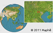 """Satellite Location Map of the area around 21°23'18""""N,104°37'30""""E"""