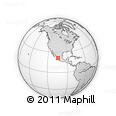 Outline Map of San Pancho, rectangular outline