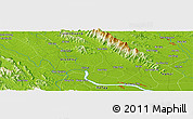 Physical Panoramic Map of Phu Yen