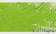"""Physical 3D Map of the area around 21°23'18""""N,106°19'29""""E"""