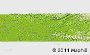 """Physical Panoramic Map of the area around 21°23'18""""N,106°19'29""""E"""