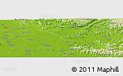 Physical Panoramic Map of Bắc Ninh