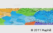 Political Panoramic Map of Bắc Ninh