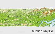 Physical Panoramic Map of Bản Mọi